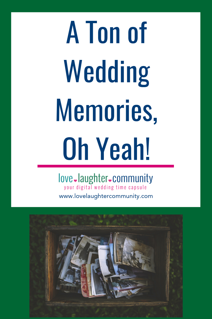 A wedding creates a ton of wedding memories for a couple to collect and store.