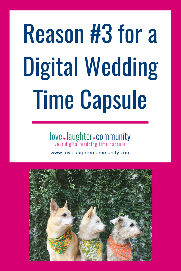 A great reason to get a digital wedding time capsule for a wedding.