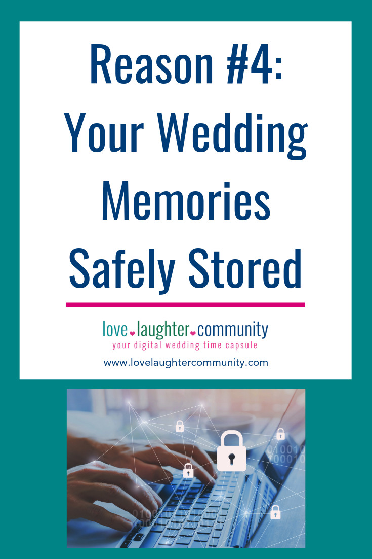 Wedding memories shown stored safe and secure