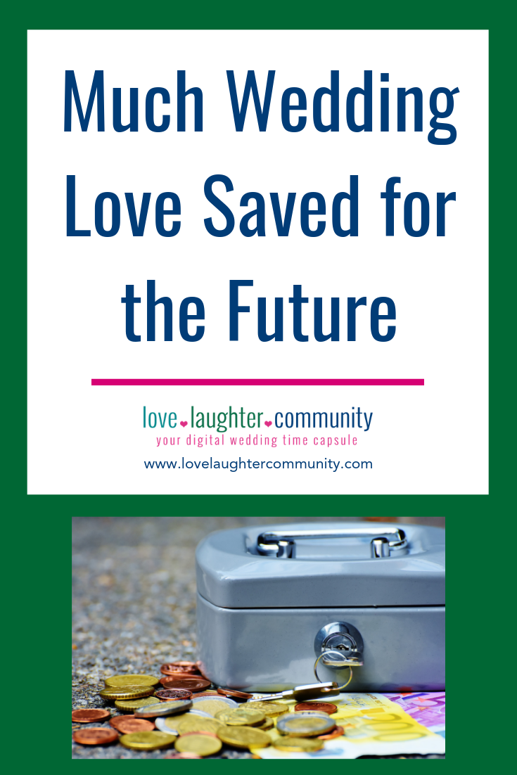 A digital wedding time capsule for saving wedding love for the future.