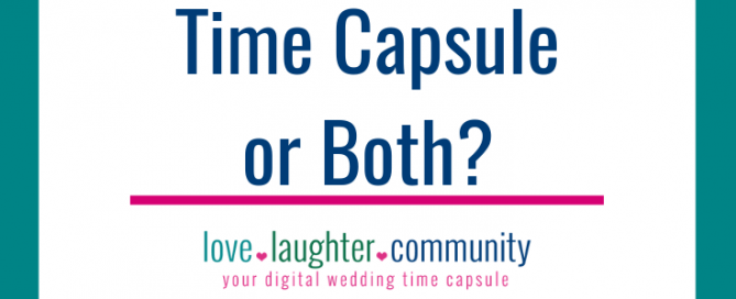 A digital wedding time capsule for a wedding scrapbook