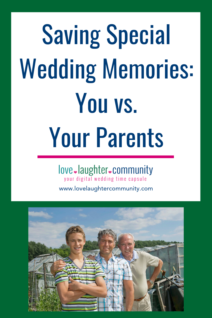 Different options for saving your wedding memories vs. what your parent's used.