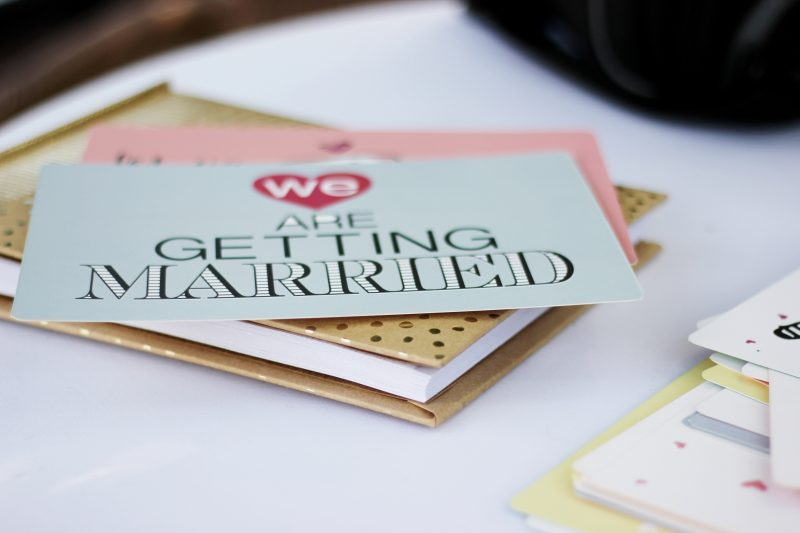 A wedding invitation. One of the many wedding story moments that happen before the wedding day.